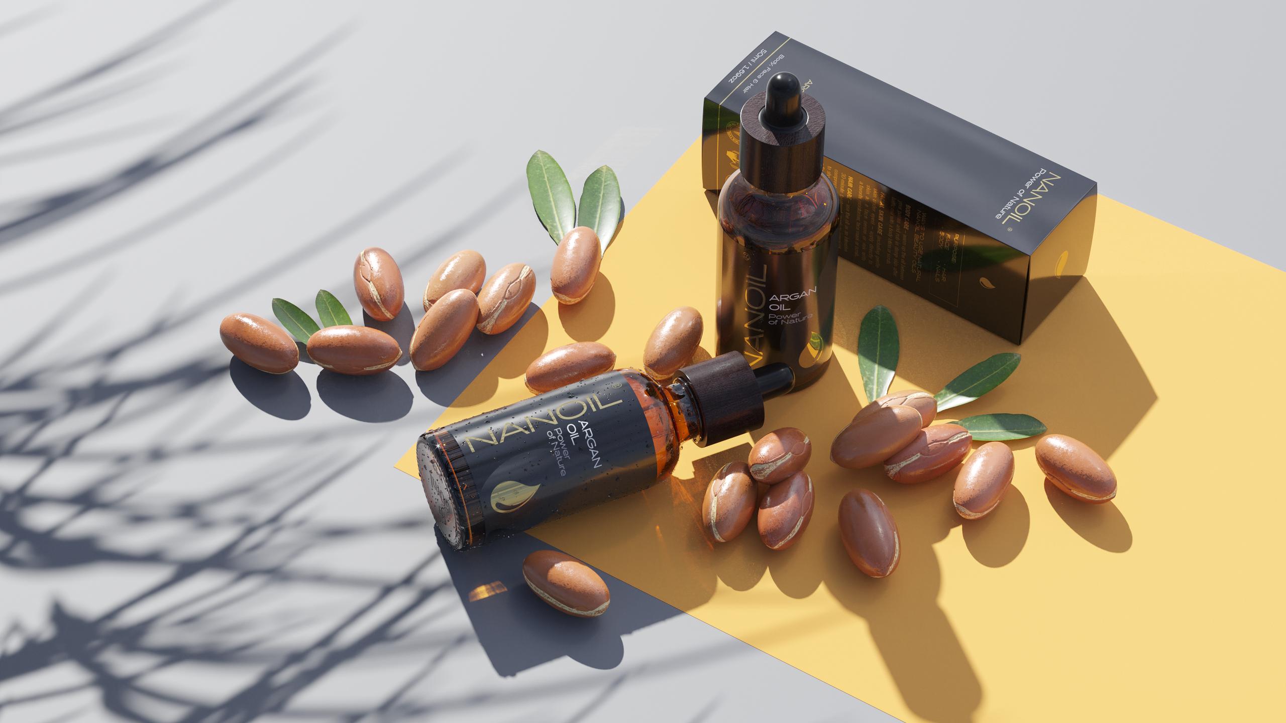 Arganöl von Nanoil für lange Haare